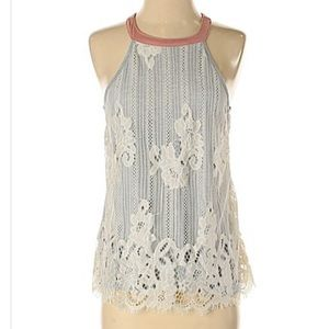 Lace Front Tank